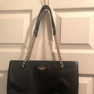 Sm baby Emerson place black leather shoulder bag
